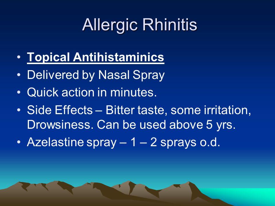 Azelastine Side Effects Diarrhea