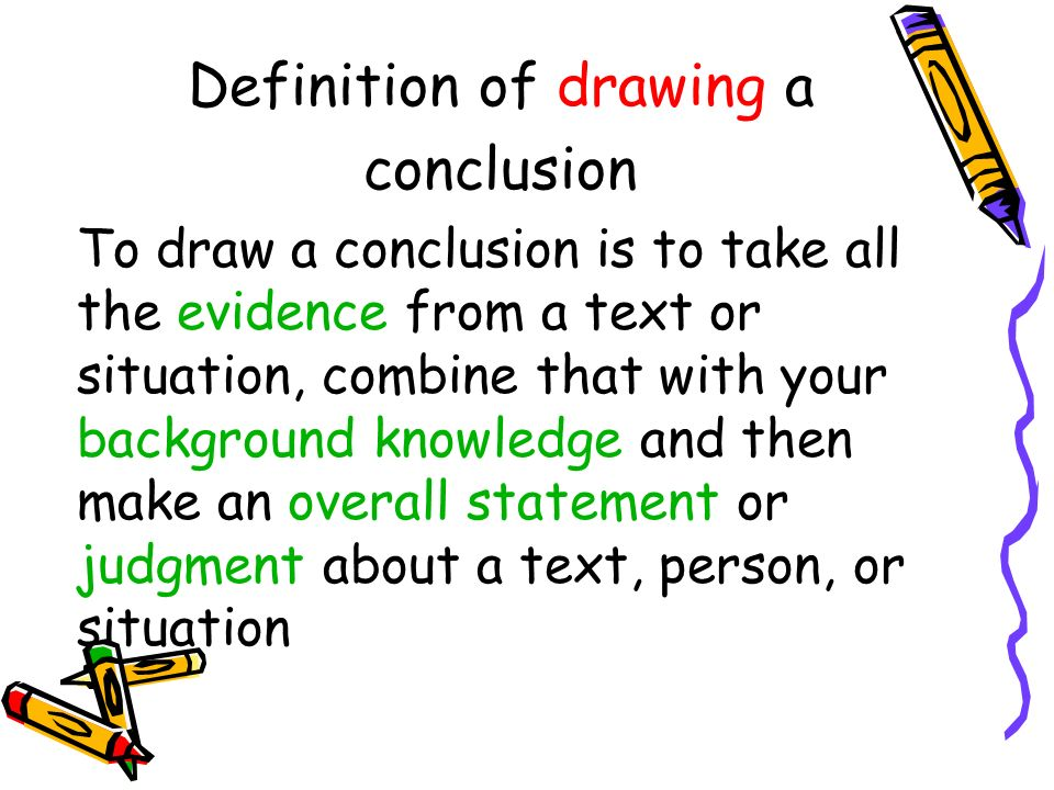 Scribble Drawing Definition : Drawing conclusions what does that mean ppt download