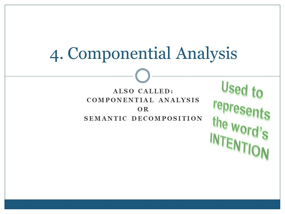 Pdf componential analysis meaning eugene of nida