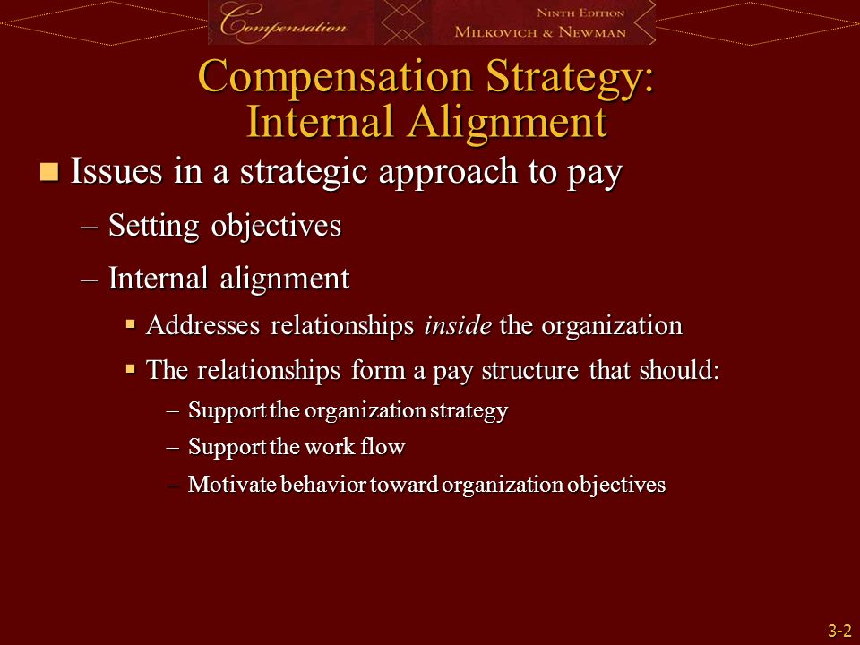 compensation employment and internal alignment Start studying intro/ strategic/ internal alignment learn vocabulary job losses (or gains) attributed to differences in compensation.
