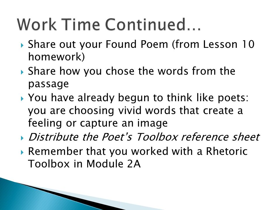 Module 3A: Unit 1: Lesson 11 Introducing Poetry. - ppt download