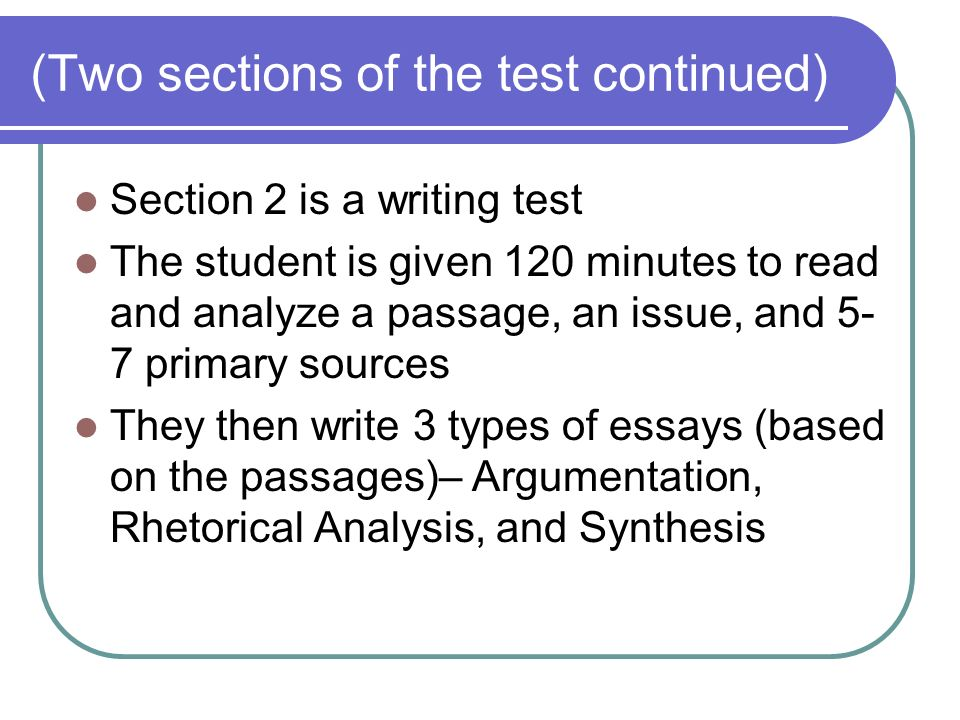 ap exam 3 test with sources essay The ap language and composition exam tests your rhetorical skills  because  the first essay involves reading sources, it is suggested that you use the   essays earning a score of 3 meet the criteria for the score of 4 but.