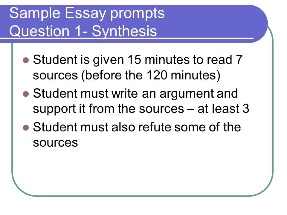 prompt to an essay