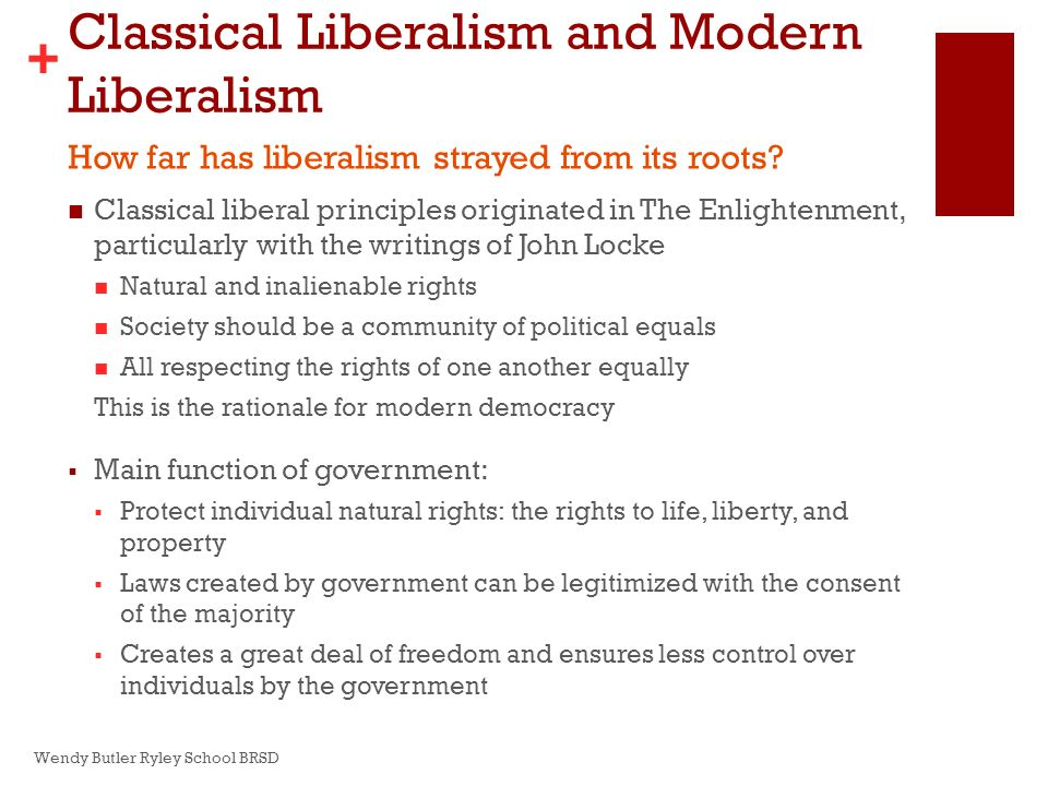 modern liberalism What is the difference between conservatism and liberalism – conservatism believes in preserving the traditional values liberalism believes in liberty and.