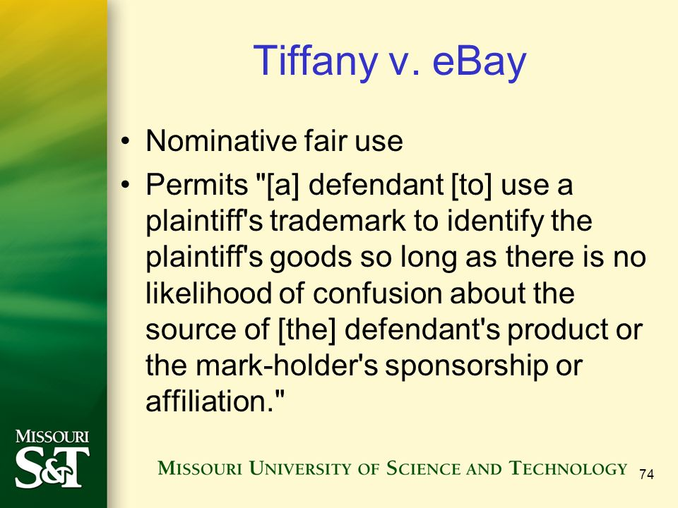 """nominative fair use """"fair use"""" is a defense to liability for trademark infringement and unfair  to a  nominative fair use defense if the user meets the following three."""
