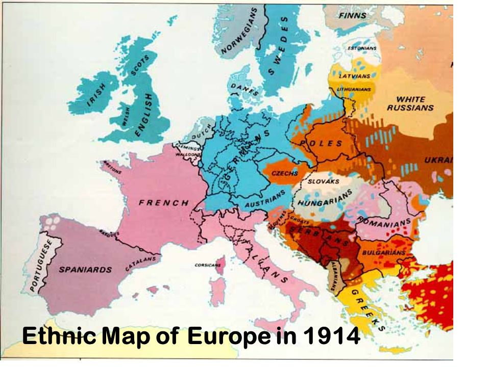 10 Nationalism Ethnic Map Of Europe In 1914