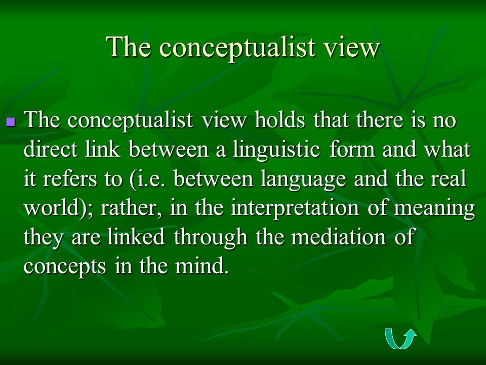 The conceptualist view