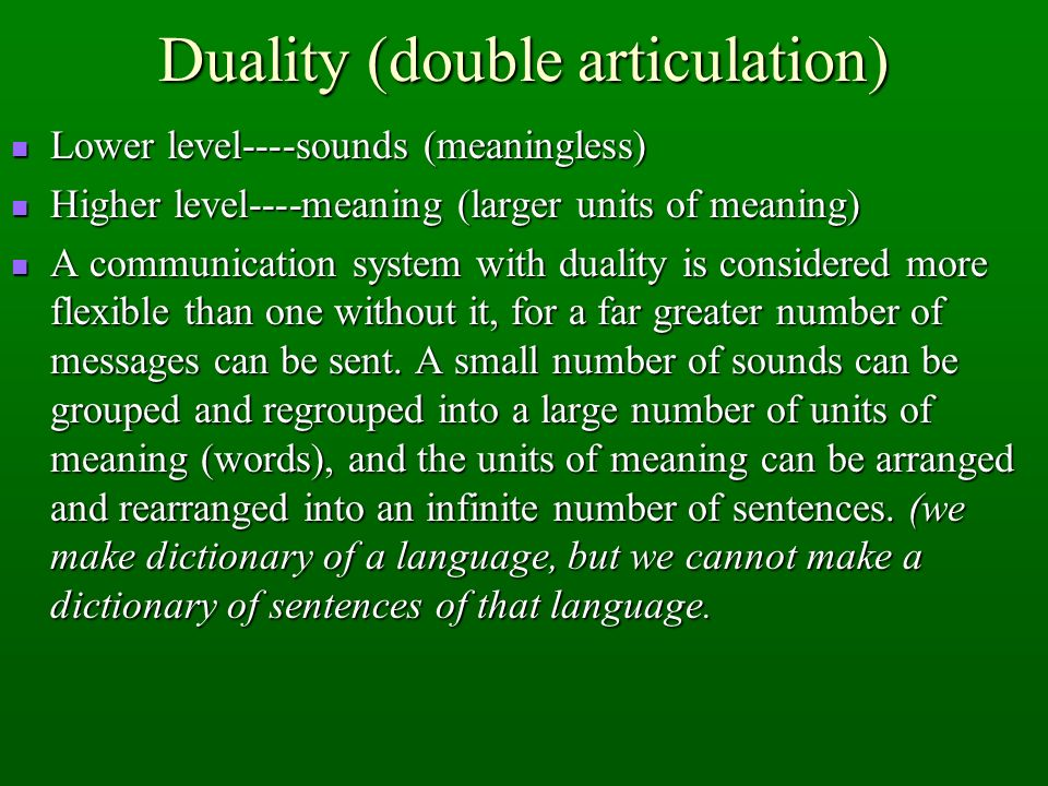 Duality (double articulation)