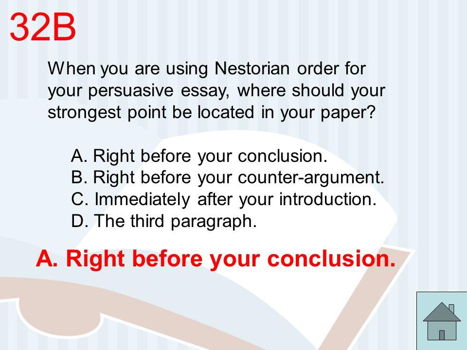 nestorian order persuasive essay