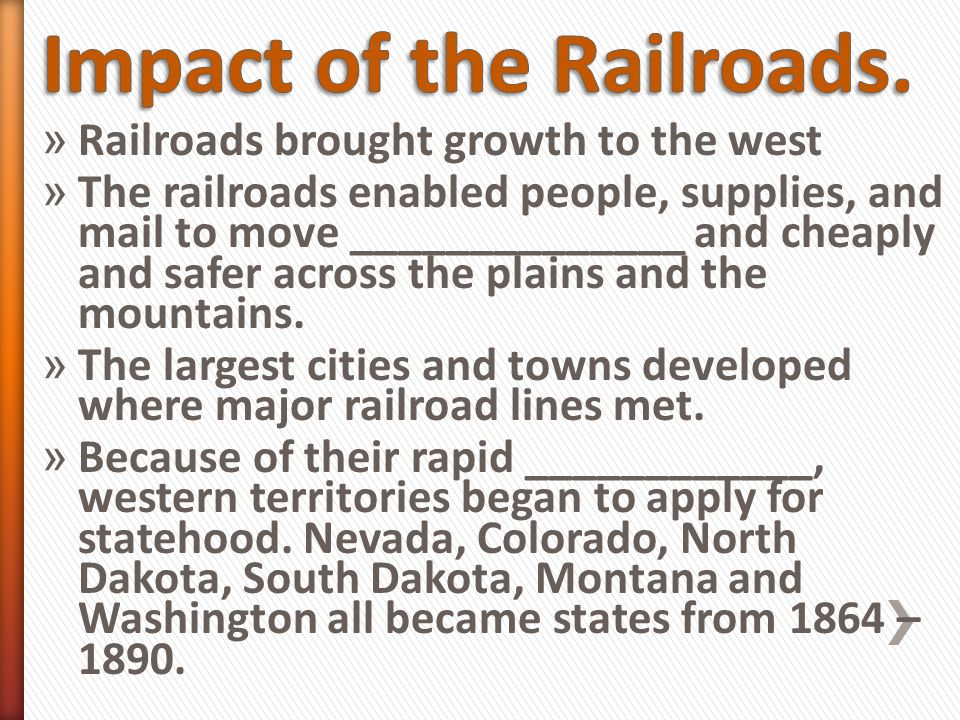 an introduction to the effects of railroads on washington state Introduction the railroad changed washington railroads circa 1910 paul bunyan could log forever in washington state forests logging trees.