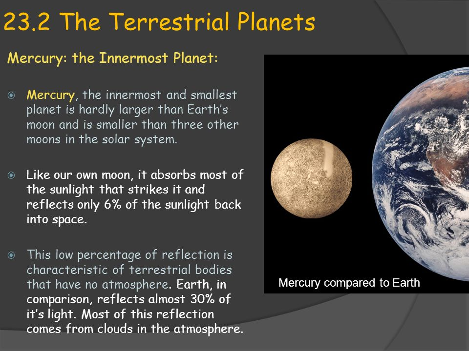Earth Science 23.2 The Terrestrial Planets - ppt download