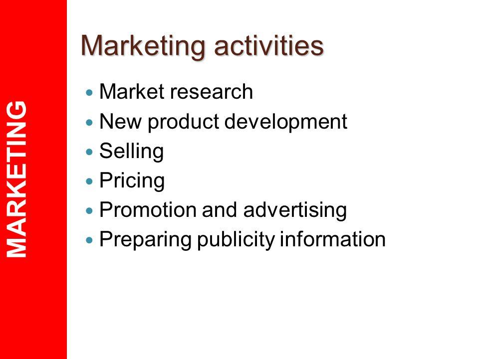 marketing activities essay