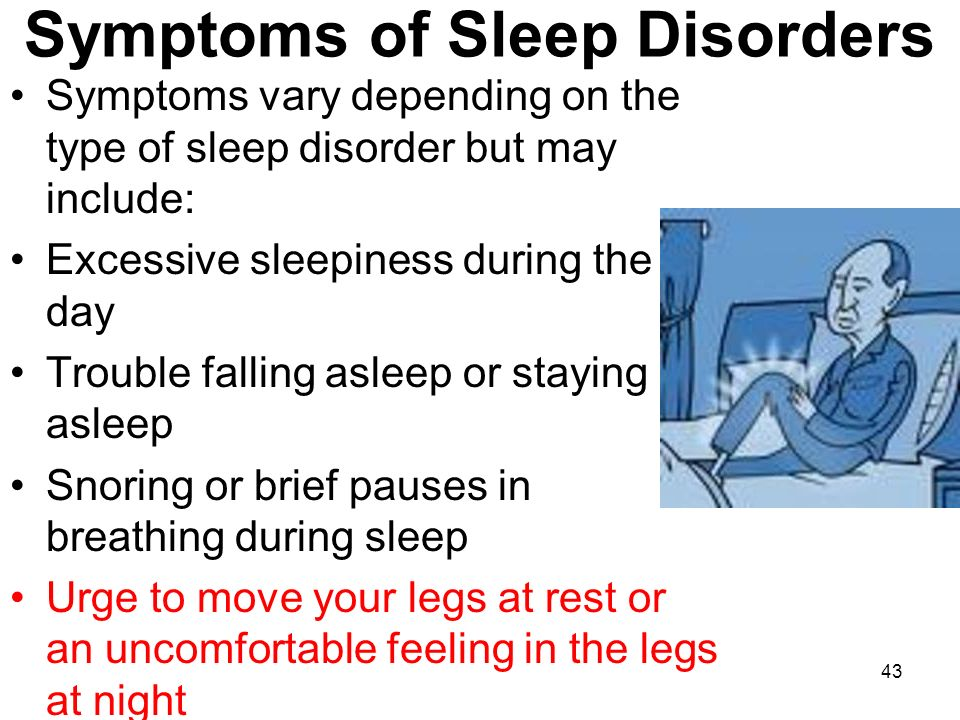 the symptoms and effects of sleep disorders Check your symptoms find a doctor  it is critically important to realize that sleep deprivation is very often due to unrecognized sleep disorders  increase in accident rates, and effects.