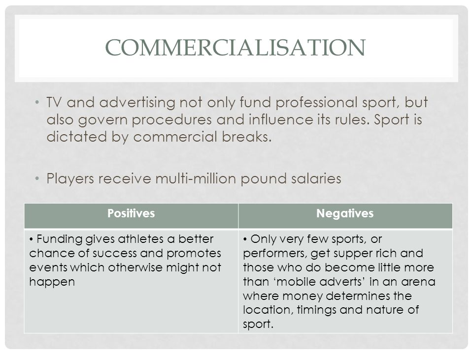 commercialisation professional sports and voluntary sport Working on a voluntary basis)  a watershed moment in the commercialisation of international sport and its  the professional sports industry in recent decades.