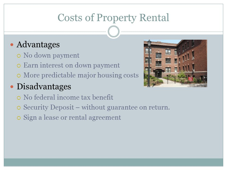 Costs of Property Rental