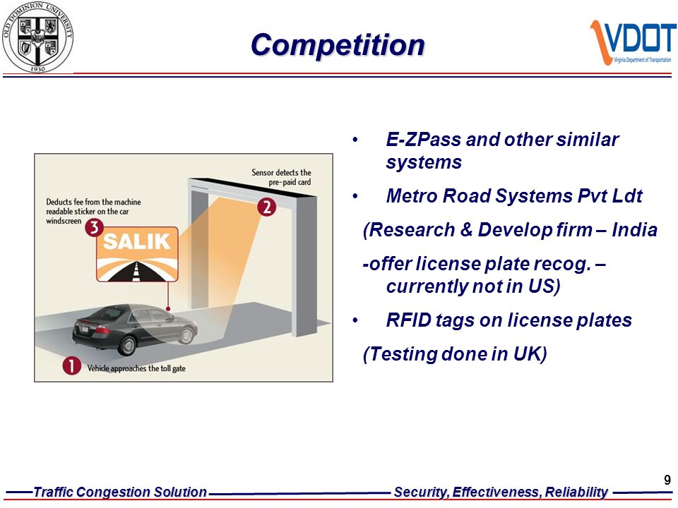 REDUCE TRAFFIC CONGESTION Automated Toll Collection Solution ...
