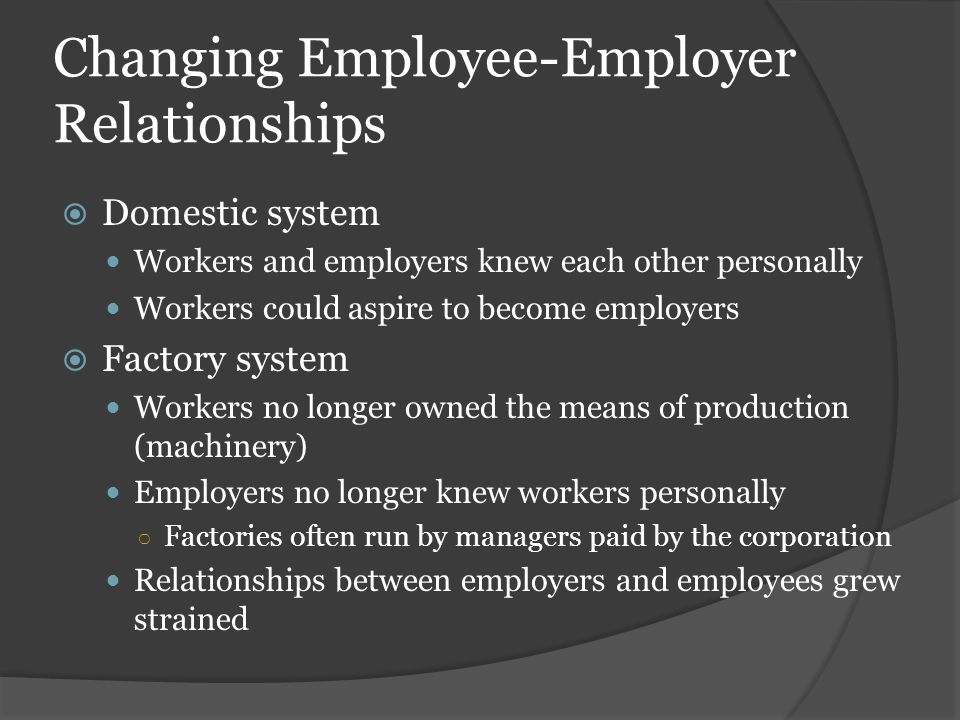 Changing Employee-Employer Relationships