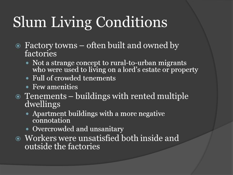 Slum Living Conditions