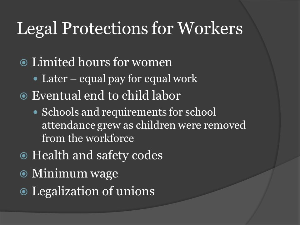 Legal Protections for Workers