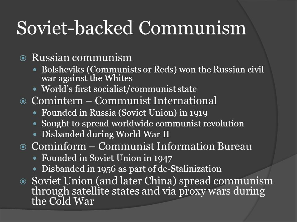 Soviet-backed Communism