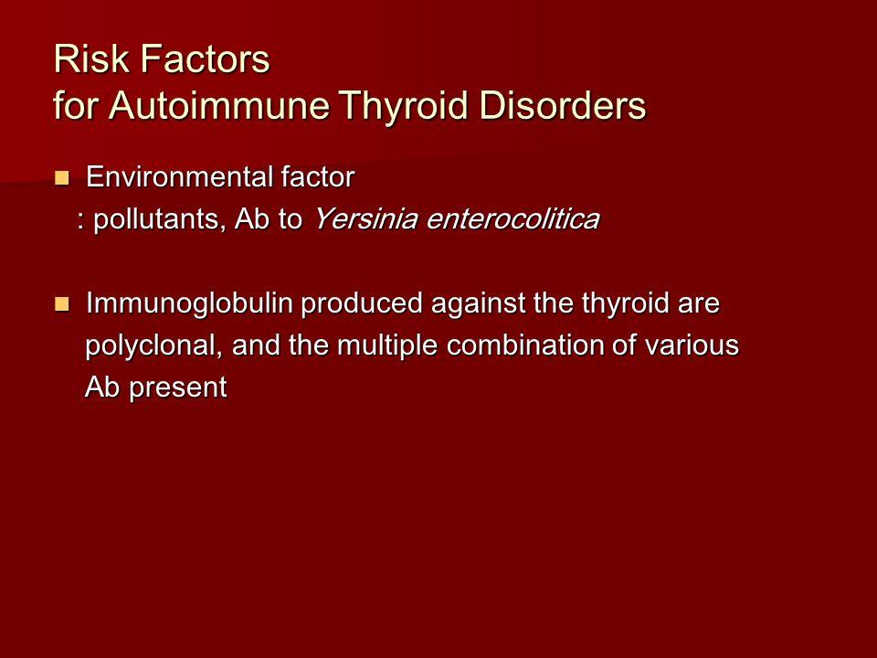 Risk Factors for Autoimmune Thyroid Disorders