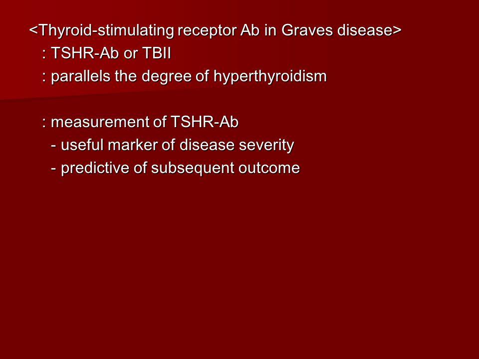 <Thyroid-stimulating receptor Ab in Graves disease>