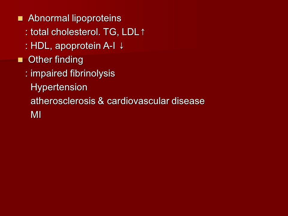 Abnormal lipoproteins