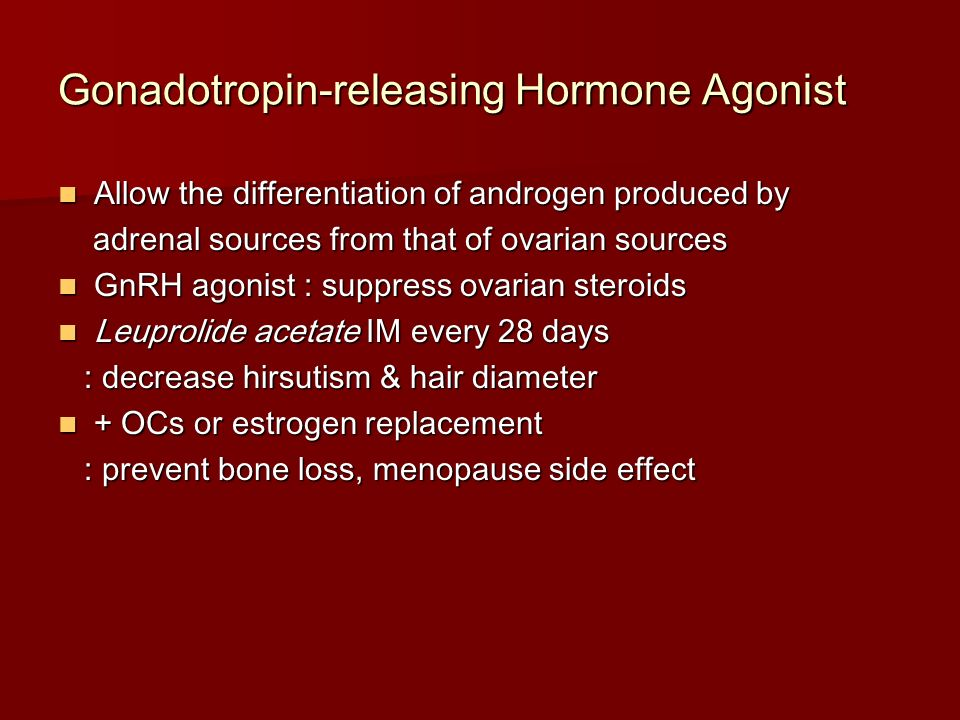 Gonadotropin-releasing Hormone Agonist