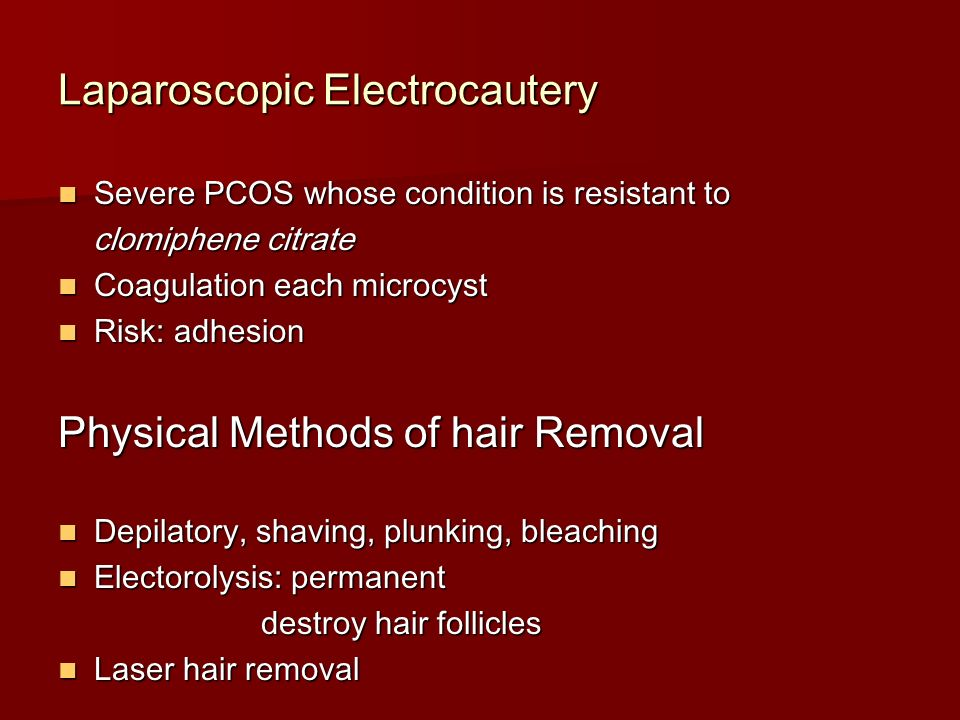 clomiphene citrate resistant pcos hair