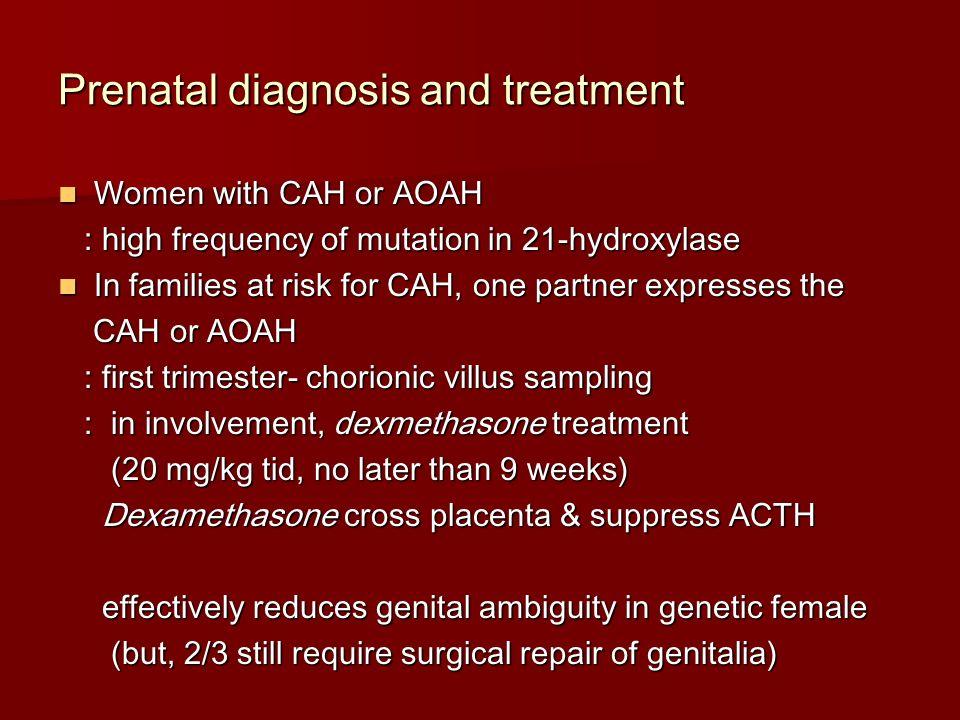 Prenatal diagnosis and treatment