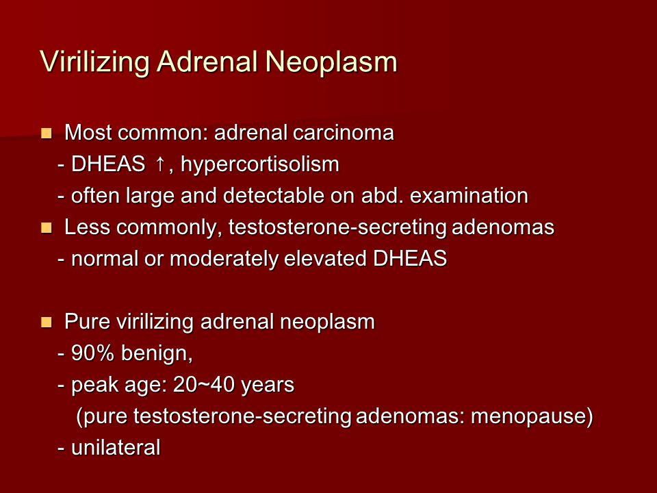 Virilizing Adrenal Neoplasm