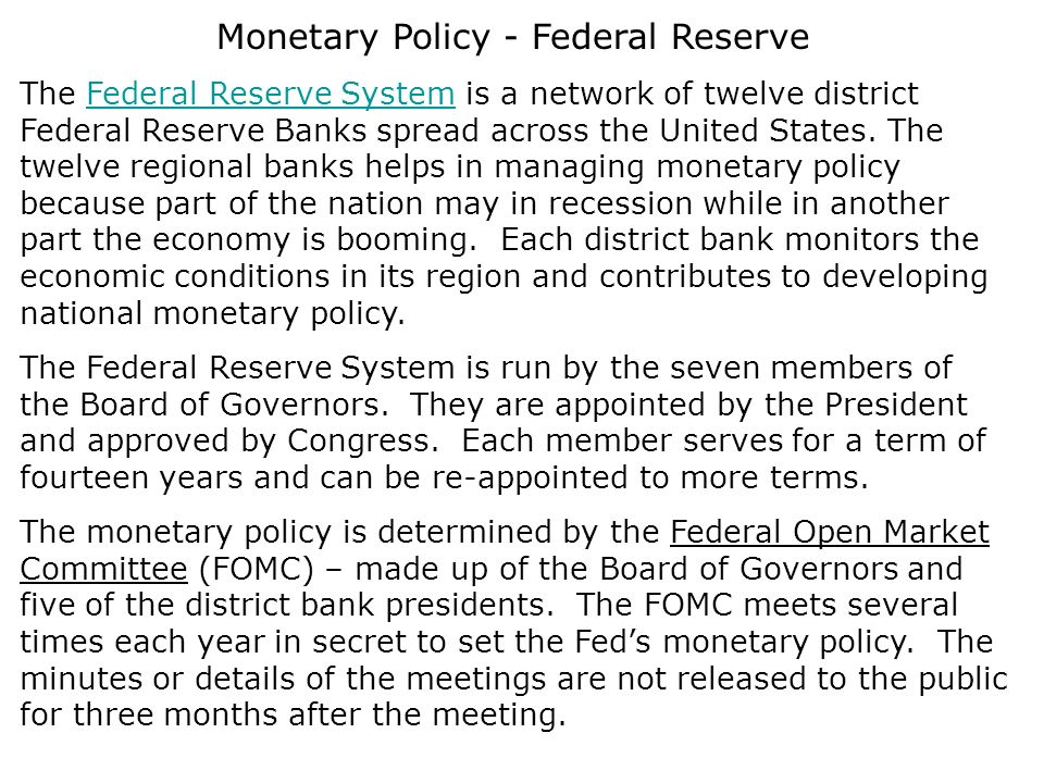 Monetary policy of the United States