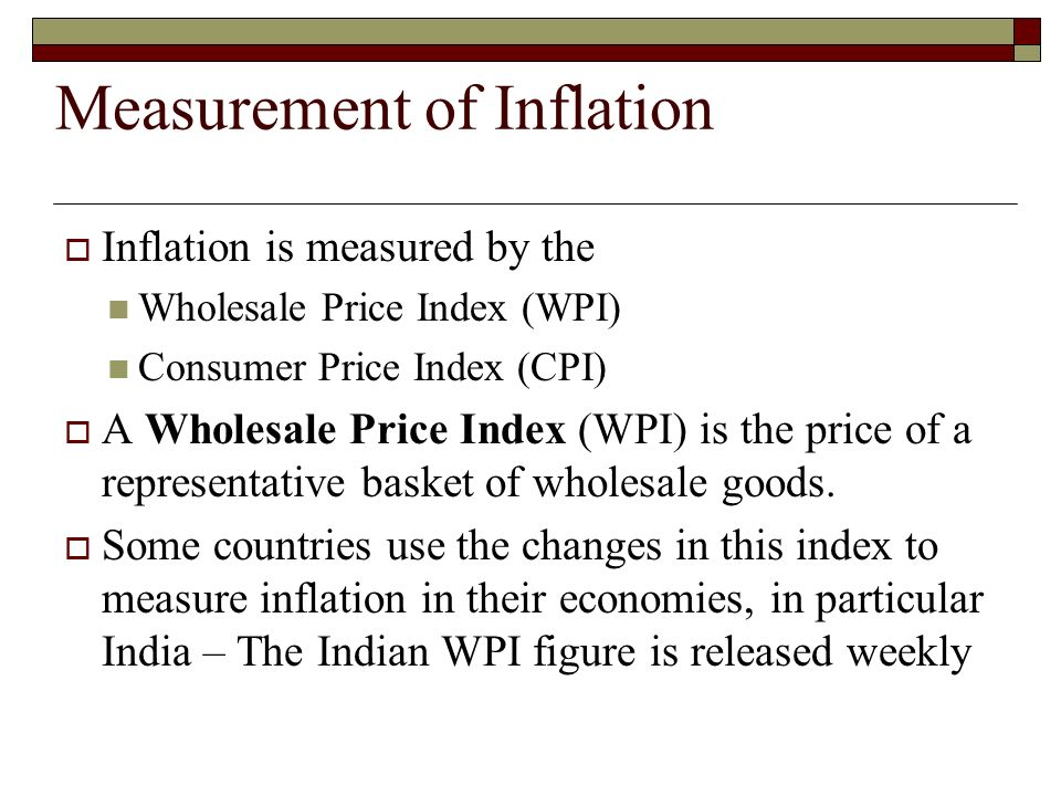 inflationary measures in india Wpi & cpi are two major indices used to reflect the inflation in the economy  earlier, till 2k14, india used wpi to measure the inflation in the indian economy.