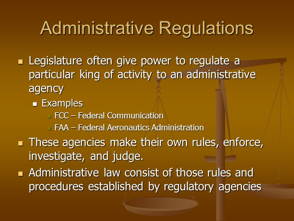 administrative agency 1 Three articles of the us constitution create a federal government composed of three major branches the legislative administrative agencies are granted the authority to perform the legislative function of making rules or regulations by the enabling statutes that bring them into.