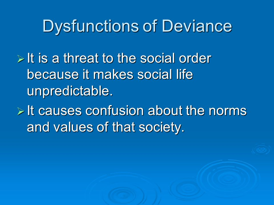 deviant behavior and social control Essay deviance and social control 908 words 4 pages show more as we all  have observed, throughout history each culture or society has unique norms that .