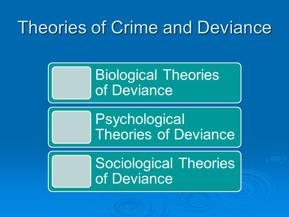 Theories of Crime and Deviance