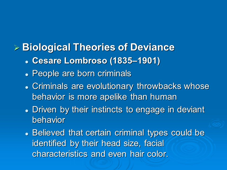 theories of punishment understanding deviance Free essay: assess the contribution of the marxist theory to the sociological understanding of crime and deviance (21 marks) marxism is a macro/structural.