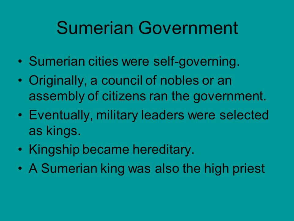 role of kingship in sumerian society gilgamesh Constant warfare for water led to growth of larger city-states the rise of a king and justification of kingship the states of sumer seemed to have been ruled by a type of priest-king among their duties were leading the military, administering trade, judging disputes, and engaging in the most important religious ceremonies.