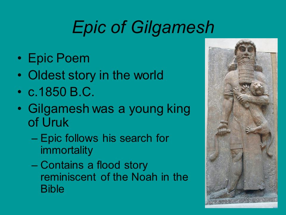 an analysis of the symbol of the flood in the epic of gilgamesh and the bible Analysis, related quotes, timeline  as in the biblical story of adam and eve, the  snake in the epic of gilgamesh is a symbol of trickery and deception near the.