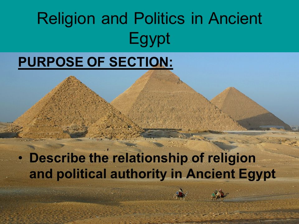 relationship of religion and politics in ancient egypt