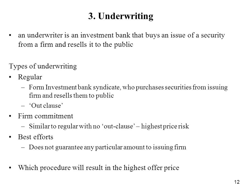 securities underwriting and dealing subsidiaries of bank