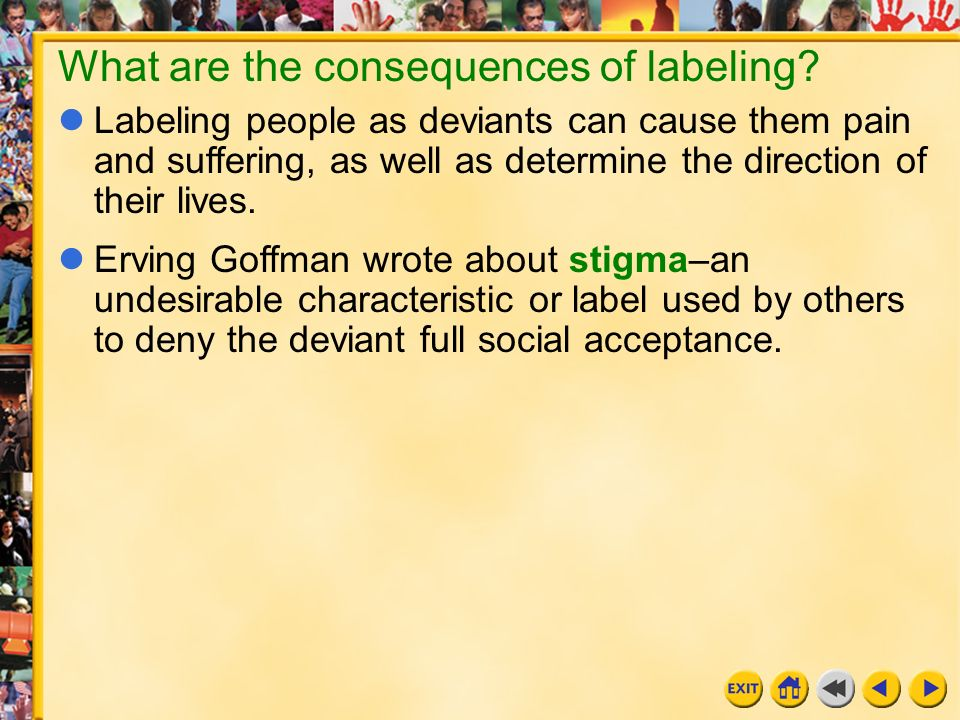 The stigma and negative effects of the labeling theory in society