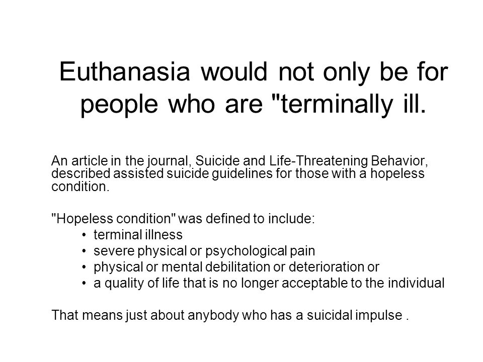euthanasia in philippines article Euthanasia and assisted suicide euthanasia is translated from greek as  good death or easy death as originally used  cite this article pick a style.