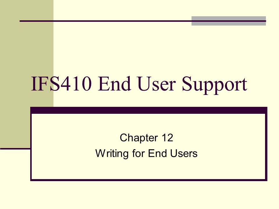 documentation for the end user essay I am looking for (common / abstract) templates and examples for the (end user) documentation of software i especially need something for an installation guide, an operation guide.