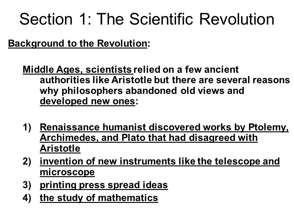 scientific revolution essays The occurrence of the scientific revolution being widely recognized by the scientific community and impacting the society at that time was the social conditions of the scientific revolution.