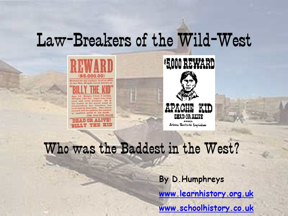 Law-Breakers of the Wild-West