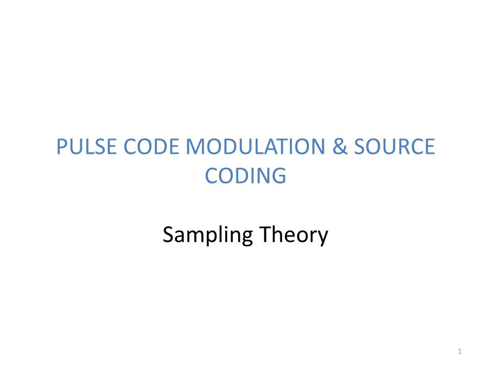 what is pulse code modulation