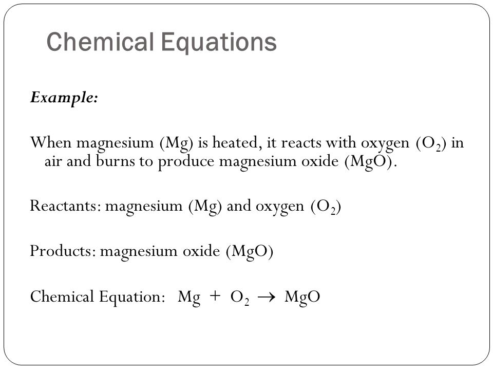 Example Of A Chemical Equation Jennarocca – Chemical Equations and Stoichiometry Worksheet