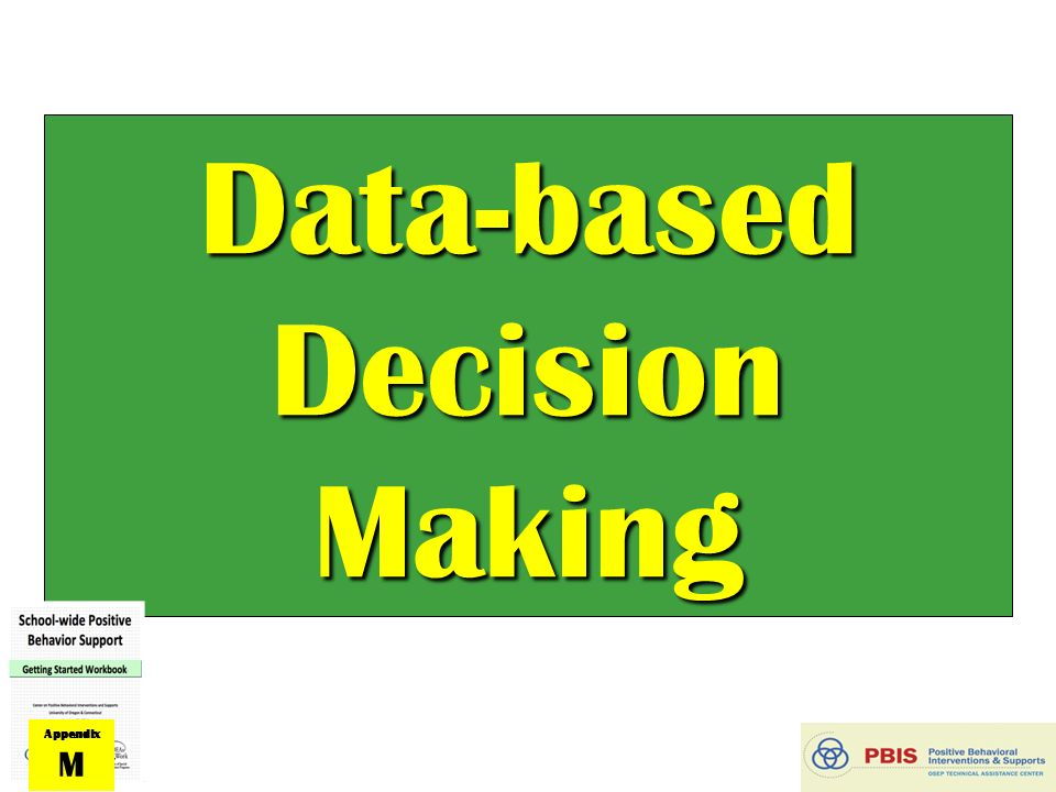 data based decision making The concept of data-based decision making underpins the entire process of a continuous quality improvement (cqi) system statistical data, if accurate, are a reliable means of information on which to base important practice and staffing decisions.