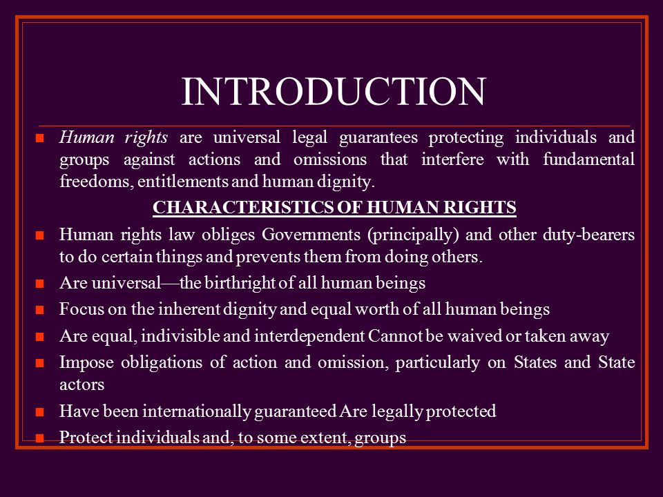 do humans have inherent individual rights Debate: hunting for sport from debatepedia  do humans have an inherent passion to hunt []  if animals have rights, do we criminalize animals that kill each.